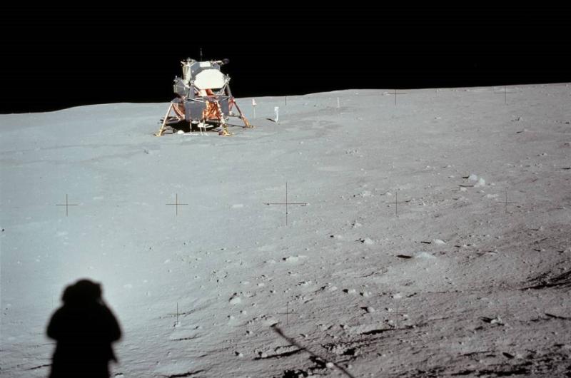 Lunar module on Tranquility Base US Moon July 20 1969_NASA photo