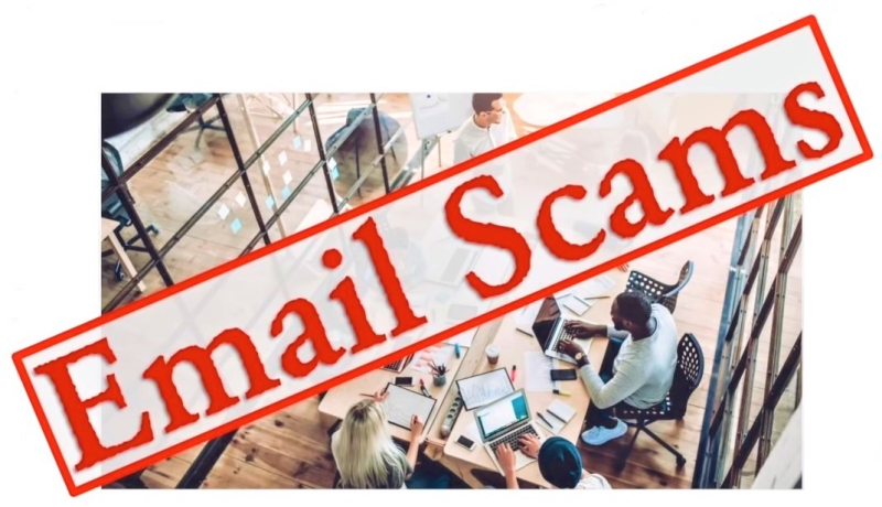 Email scams IRS YouTube vido screenshot