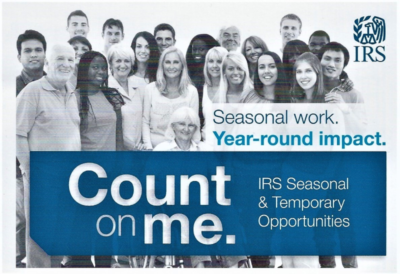 IRS seasonal job postcard 2018