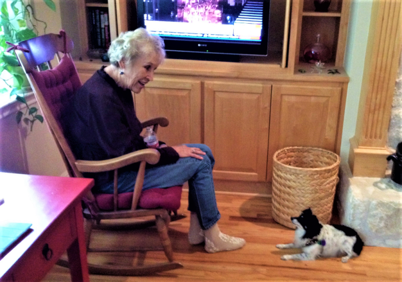 My mother and her dog November 2015_Kay Bell photo
