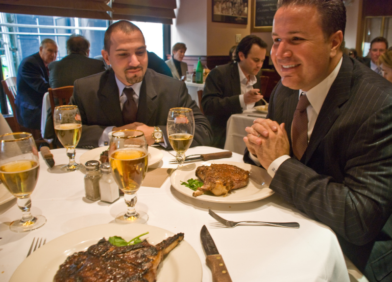A Manhattan business lunch by Phillip Capper via Flickr CC