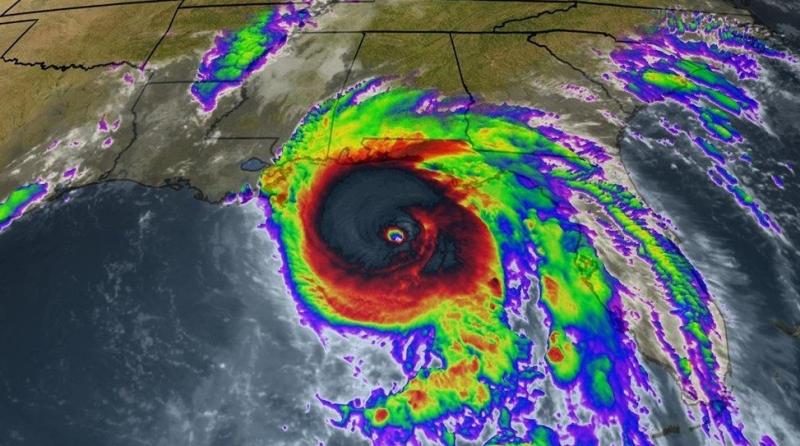 Hurricane Michael Oct 20 2018 approaching Florida Panhandle