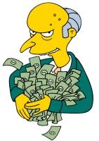Montgomery Burns_The Simpsons money