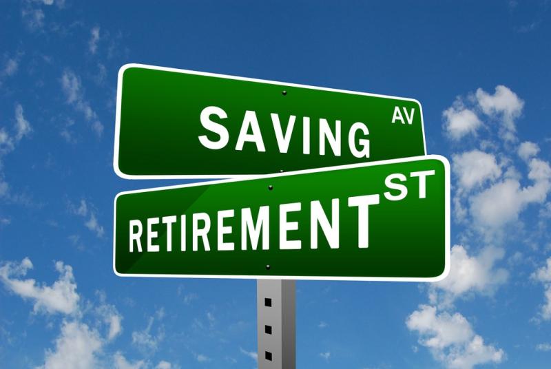 Retirement savings street signs