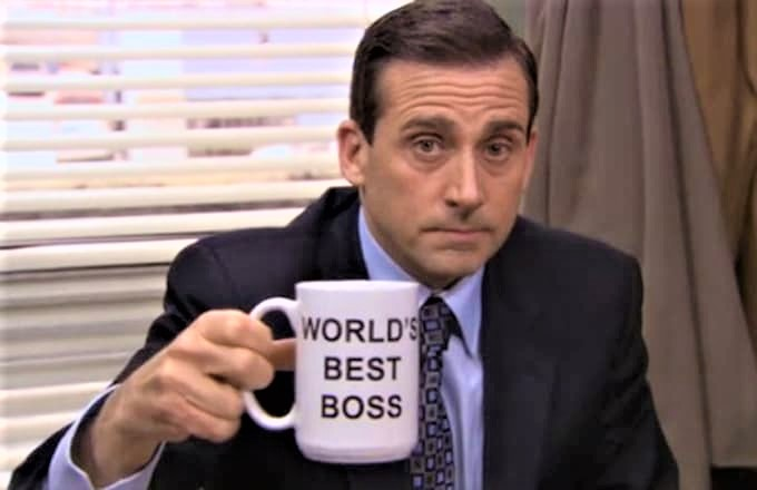Steve Carell as Michael Scott of The Office_US version on NBC