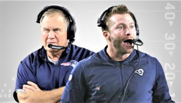 Bill Belichick and Sean McVay_NFL_Super Bowl LIII