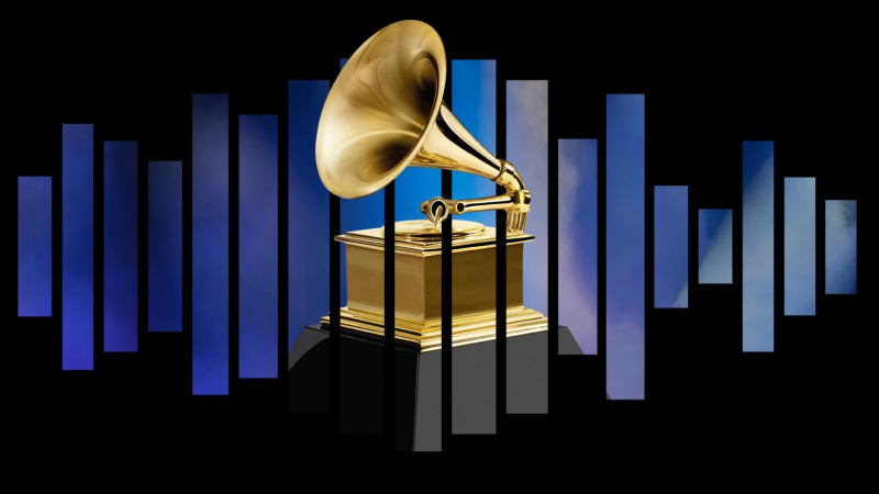 Grammy awards logo statuette