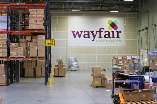 Wayfair warehouse via Cision PR Newswire press release