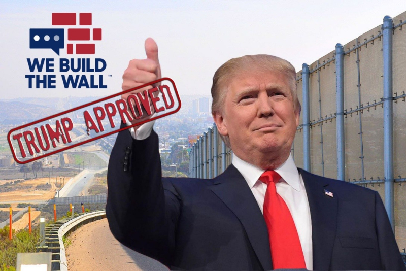We the People Will Build the Wall online funding website