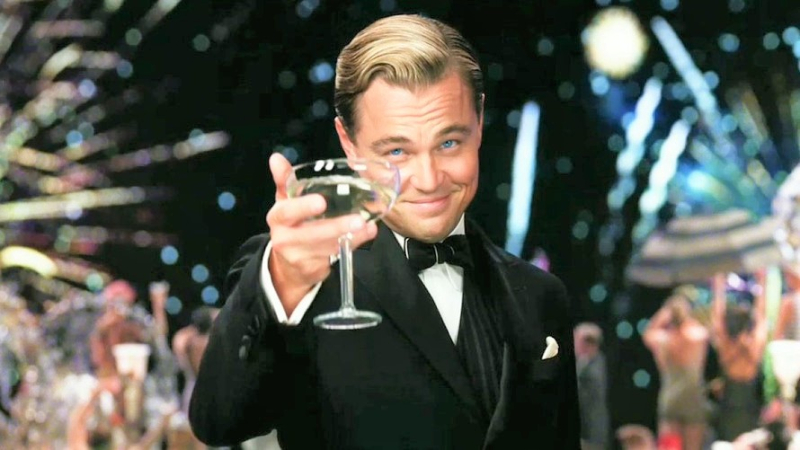 Leonardo DiCaprio as title character in 2013 movie The Great Gatsby_Warner Bros PR photo