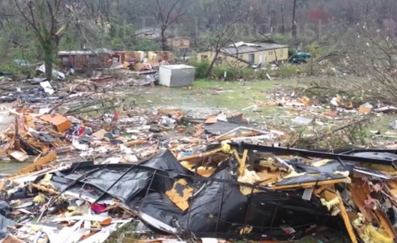 Lee County Alabama tornado damage_Nicholas Baretto via Twitter
