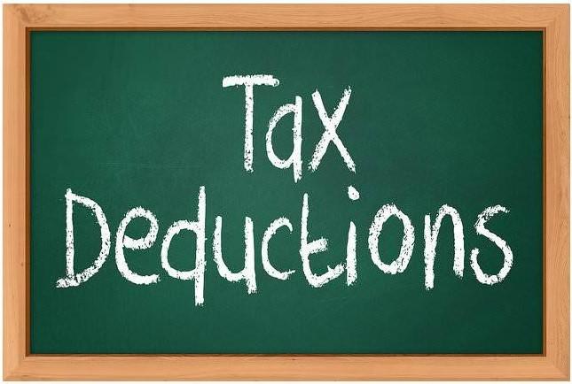 Tax-deductions-blackboard-notation