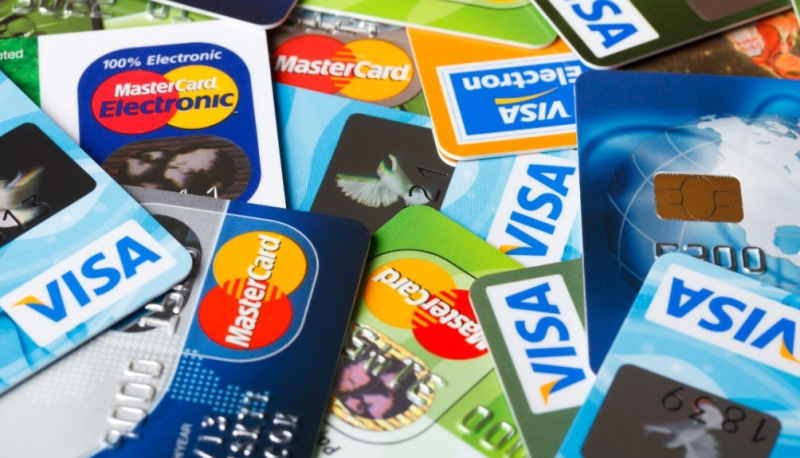 Credit cards montage