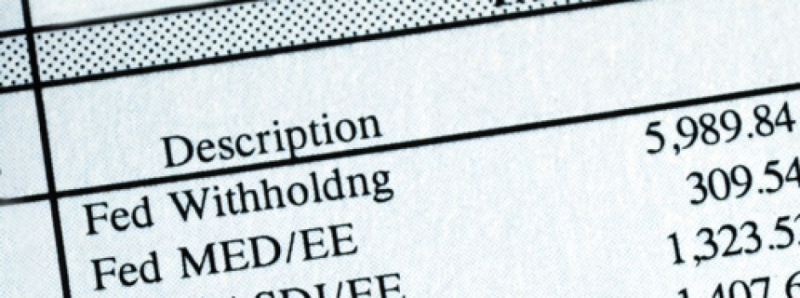 Paycheck withholding line item