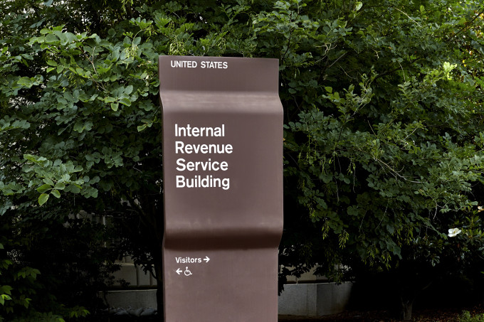 IRS WDC building sign