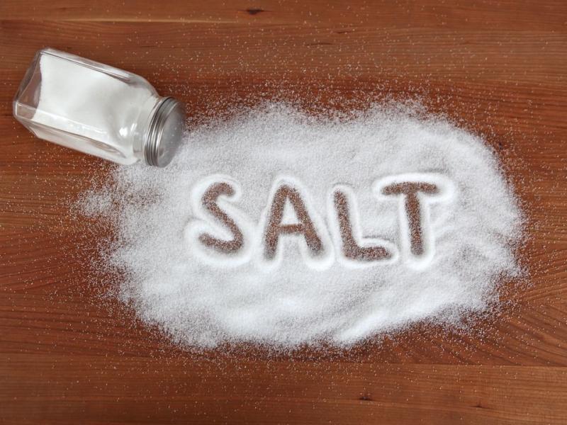 Salt spilled