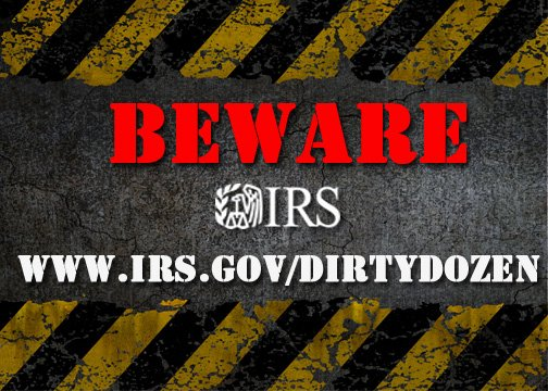 IRS Dirty Dozen tax scams