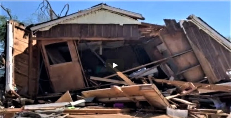 Damage from April 13 2019 tornado in Alto Texas_Disaster Compilations via YouTube