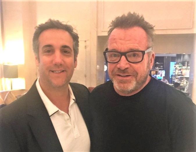 Michael Cohen and Tom Arnold_Arnold Twitter photo June 2018_cropped