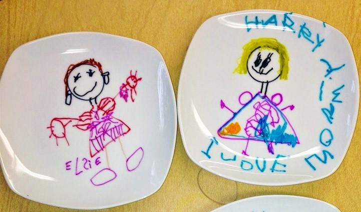Mothers-day-plates-made-by-children
