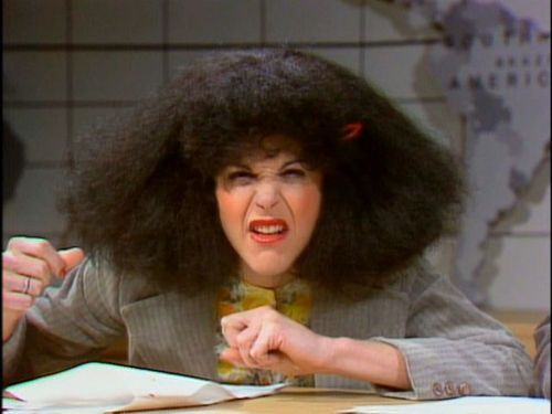 Gilda Radner as Roseanne Roseannadana on NBC SNL