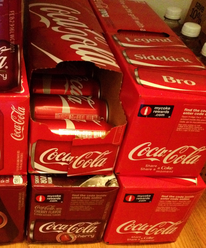 Cokes in our pantry cropped
