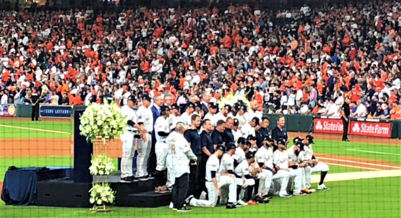 Astros WS 2017 ring ceremony April 2 2018 Minute Maid Park