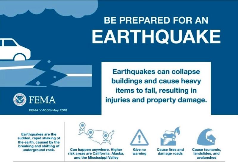 FEMA earthquake prep fack sheet