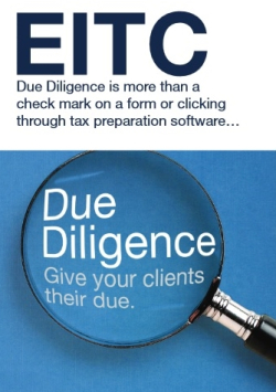 EITC due diligence reminde for tax preparers