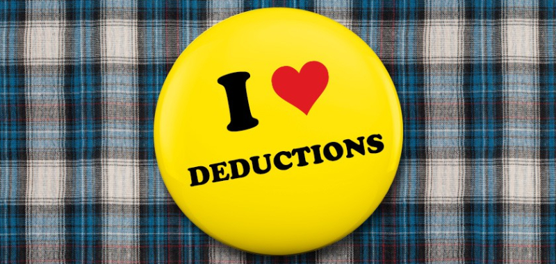 I love tax deductions button