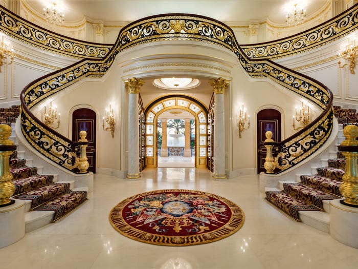 South Florida waterfront mansion foyer_Concierge Auctions