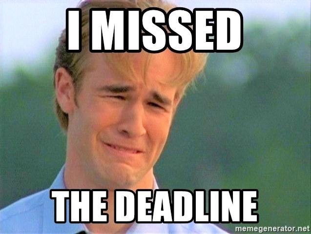 Missed-deadline_James-VanDerBeek-Dawsons-Creek_MemeGenerator