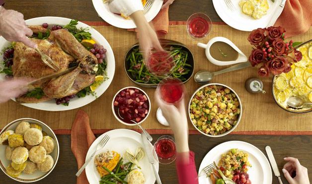Thanksgiving meal via Satya Murthy