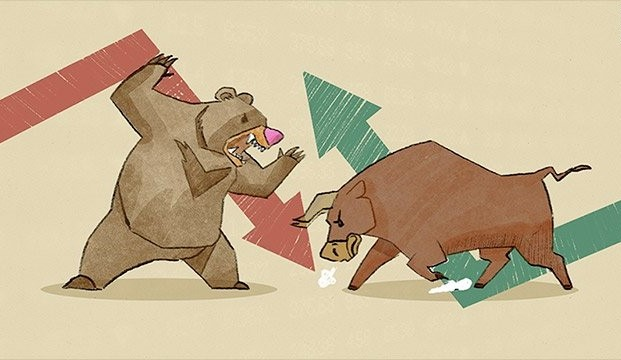Bull bear stock market