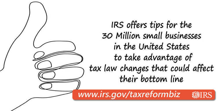 IRS tax reform help for small businesses