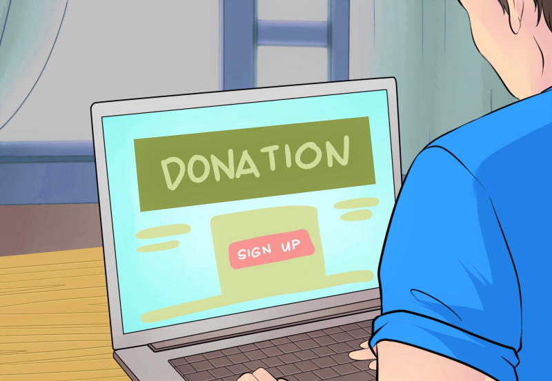 Online donation charity solicitation drawing_WikiHow