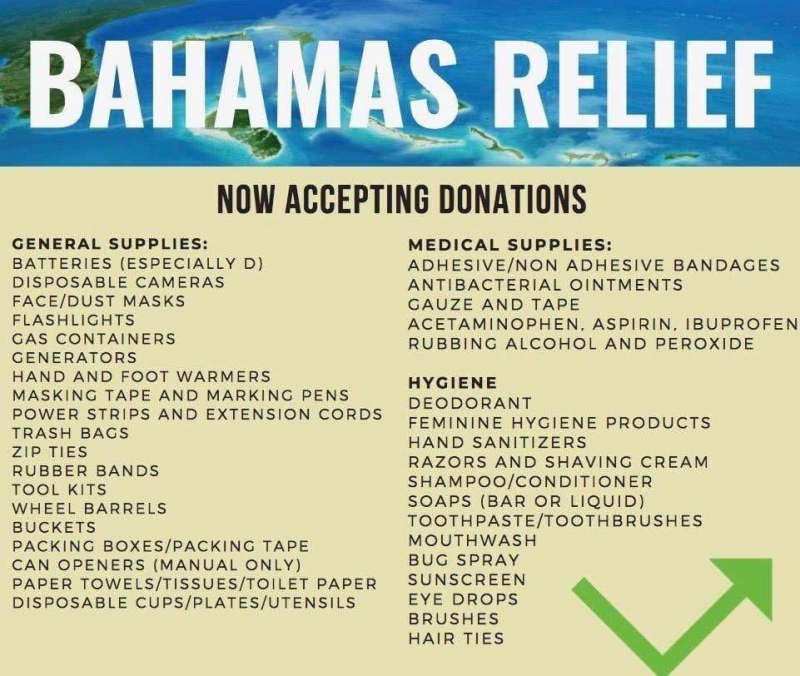 Ways to help Bahamas' residents recover from Dorian - Don't
