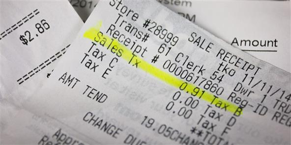 SalesTax cash register receipt