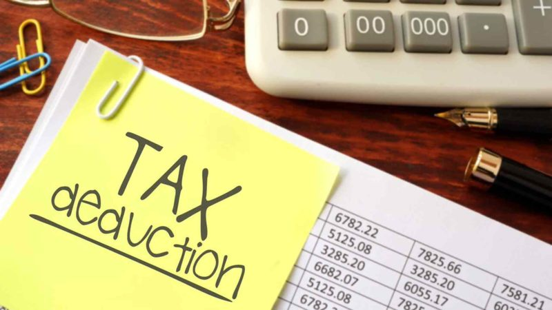 Tax-deduction-post-it-note-calculator