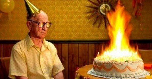 Too many candles_senior citizen fiery birthday
