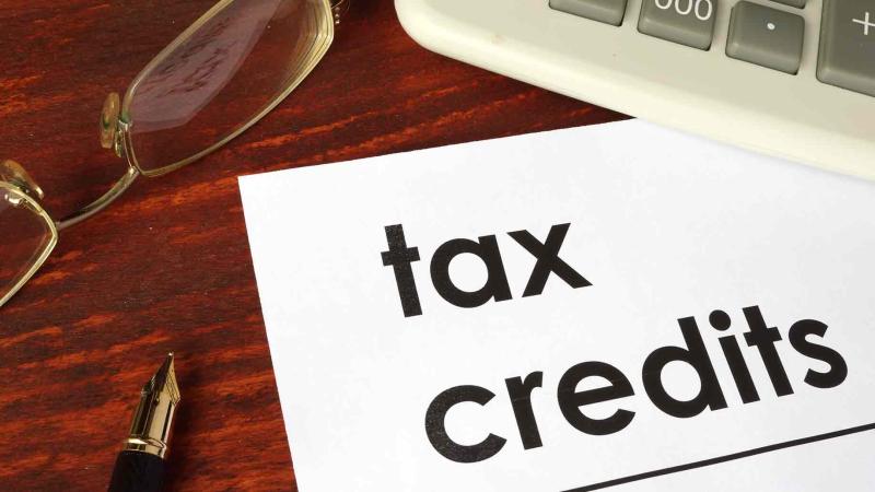 Tax credits paper on desk