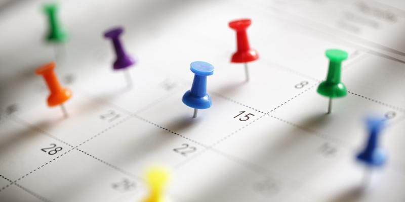 Crowded calendar