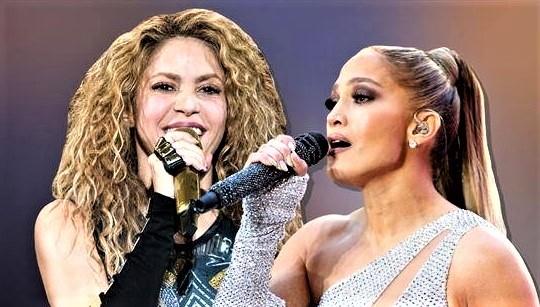 Shakira and Jennifer Lawrence