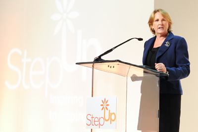 Erin Collins Step Up event