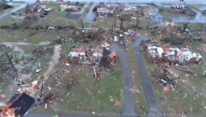 Nashville tornado WDIV5 screenshot-Twitter