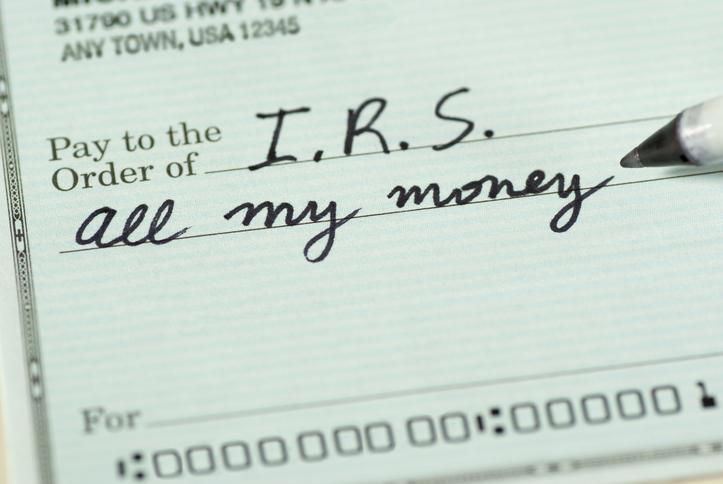 Tax Check to IRS