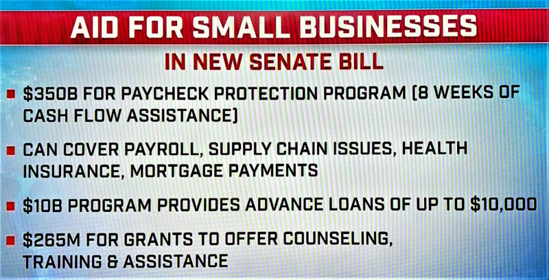 COVID19 CARES Act small business provisions