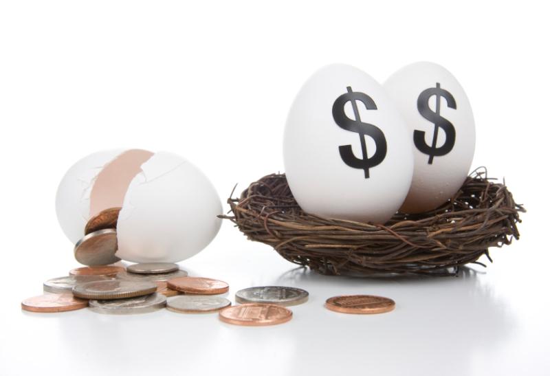Cracked nest egg iStock_000009519883Small