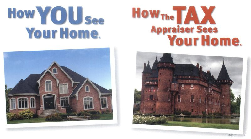 Real estate property tax assessment differing points of view
