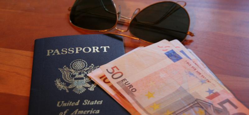 Passport with euros